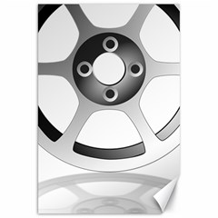 Car Wheel Chrome Rim Canvas 20  x 30