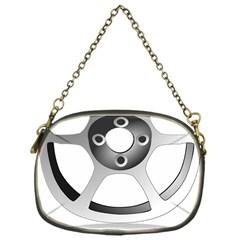 Car Wheel Chrome Rim Chain Purses (One Side)