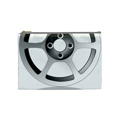 Car Wheel Chrome Rim Cosmetic Bag (Medium)