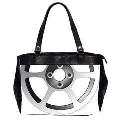 Car Wheel Chrome Rim Office Handbags (2 Sides)