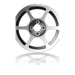 Car Wheel Chrome Rim Shower Curtain 48  x 72  (Small)