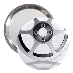Car Wheel Chrome Rim 3  Handbag Mirrors