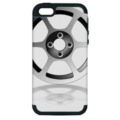 Car Wheel Chrome Rim Apple iPhone 5 Hardshell Case (PC+Silicone)