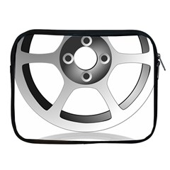 Car Wheel Chrome Rim Apple iPad 2/3/4 Zipper Cases
