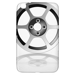Car Wheel Chrome Rim Samsung Galaxy Tab 3 (8 ) T3100 Hardshell Case