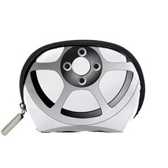 Car Wheel Chrome Rim Accessory Pouches (Small)