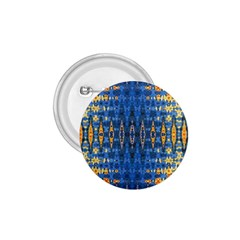 Blue And Gold Repeat Pattern 1.75  Buttons