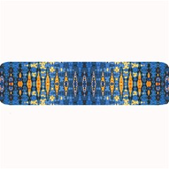 Blue And Gold Repeat Pattern Large Bar Mats