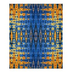 Blue And Gold Repeat Pattern Shower Curtain 60  x 72  (Medium)