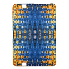 Blue And Gold Repeat Pattern Kindle Fire HD 8.9