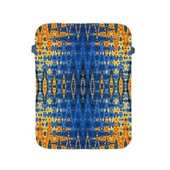 Blue And Gold Repeat Pattern Apple iPad 2/3/4 Protective Soft Cases