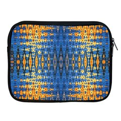 Blue And Gold Repeat Pattern Apple iPad 2/3/4 Zipper Cases