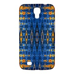 Blue And Gold Repeat Pattern Samsung Galaxy Mega 6.3  I9200 Hardshell Case