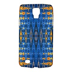 Blue And Gold Repeat Pattern Galaxy S4 Active
