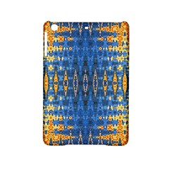 Blue And Gold Repeat Pattern iPad Mini 2 Hardshell Cases