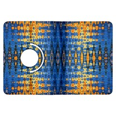 Blue And Gold Repeat Pattern Kindle Fire HDX Flip 360 Case
