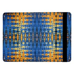 Blue And Gold Repeat Pattern Samsung Galaxy Tab Pro 12.2  Flip Case