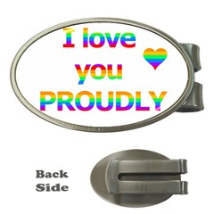 Proudly love Money Clips (Oval)