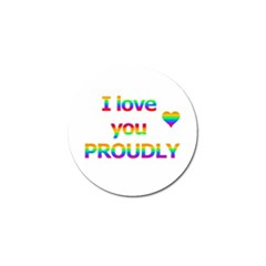 Proudly love Golf Ball Marker (10 pack)