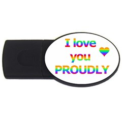 Proudly Love Usb Flash Drive Oval (4 Gb)