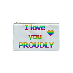 Proudly love Cosmetic Bag (Small)
