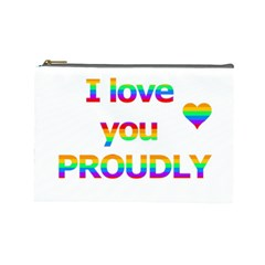 Proudly love Cosmetic Bag (Large)