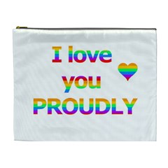 Proudly love Cosmetic Bag (XL)