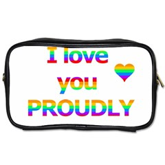 Proudly love Toiletries Bags 2-Side