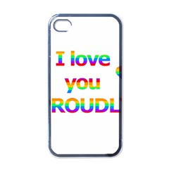 Proudly love Apple iPhone 4 Case (Black)
