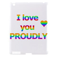 Proudly love Apple iPad 3/4 Hardshell Case (Compatible with Smart Cover)