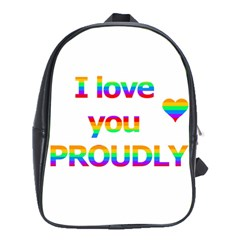 Proudly love School Bags (XL)