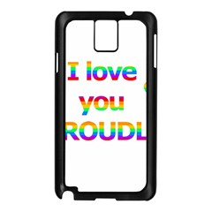 Proudly love Samsung Galaxy Note 3 N9005 Case (Black)