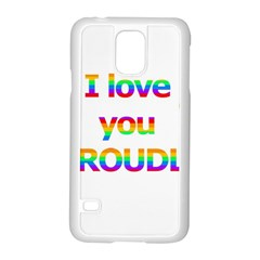 Proudly love Samsung Galaxy S5 Case (White)