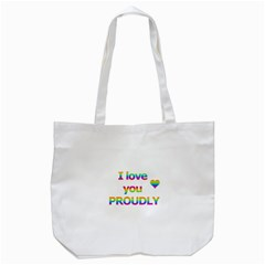 Proudly love Tote Bag (White)