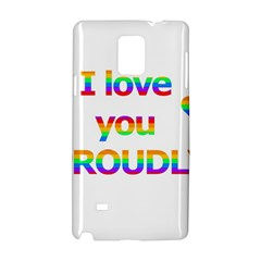 Proudly love Samsung Galaxy Note 4 Hardshell Case