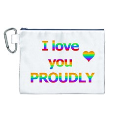 Proudly love Canvas Cosmetic Bag (L)