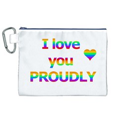 Proudly love Canvas Cosmetic Bag (XL)