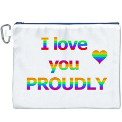 Proudly love Canvas Cosmetic Bag (XXXL)