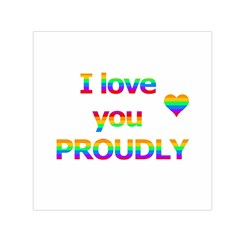 Proudly love Small Satin Scarf (Square)