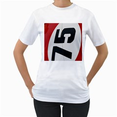 Car Auto Speed Vehicle Automobile Women s T-Shirt (White) (Two Sided)