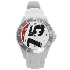 Car Auto Speed Vehicle Automobile Round Plastic Sport Watch (L)