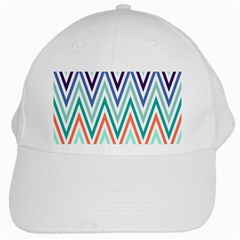 Chevrons Colourful Background White Cap