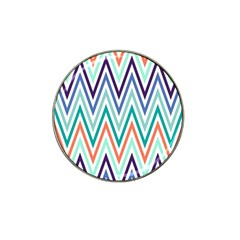 Chevrons Colourful Background Hat Clip Ball Marker