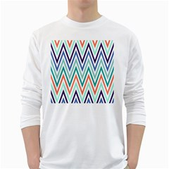 Chevrons Colourful Background White Long Sleeve T-Shirts