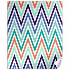 Chevrons Colourful Background Canvas 16  x 20