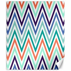 Chevrons Colourful Background Canvas 20  x 24