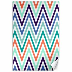 Chevrons Colourful Background Canvas 24  x 36