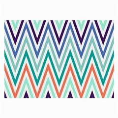 Chevrons Colourful Background Large Glasses Cloth (2-Side)