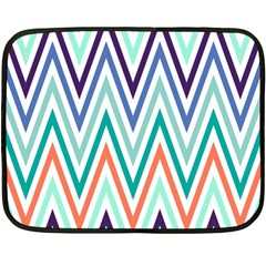 Chevrons Colourful Background Double Sided Fleece Blanket (Mini)