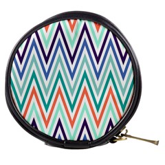 Chevrons Colourful Background Mini Makeup Bags